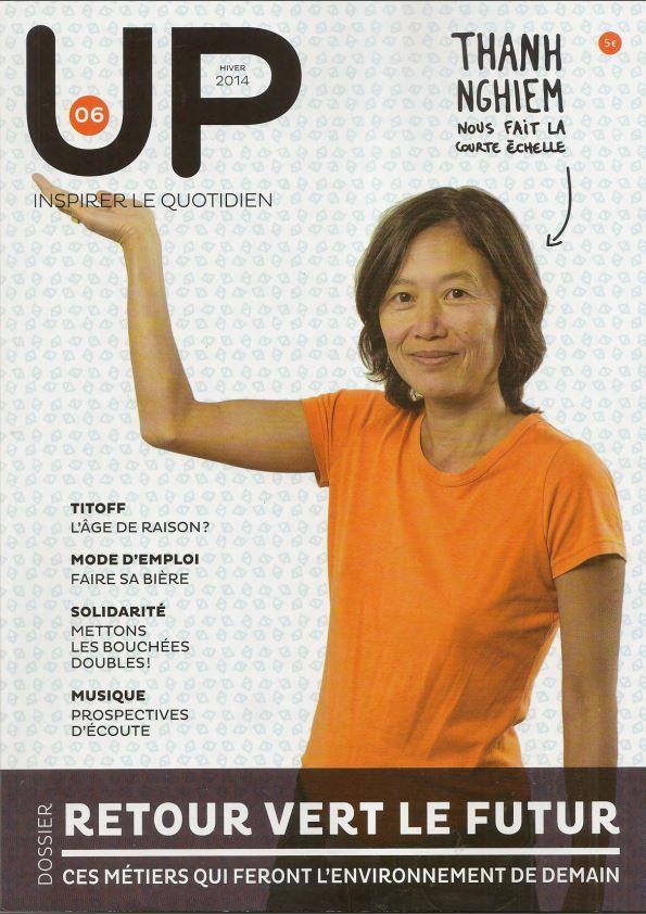 """Comme une envie d'air pur... Le diffuseur IRIS par Essential Elements; dans le magazine """"Up"""" (Hiver 2014) - En Français."""