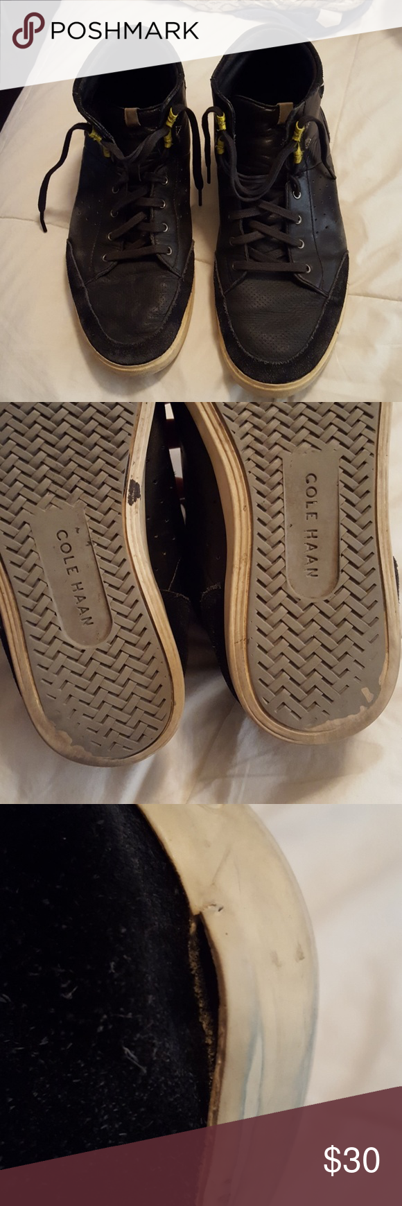 Cole Haan Grand OS Sneakers Made in Vietnam. Overall really worn. Shows  lots of