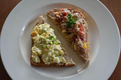Gezonde tonijn- en eiersalade