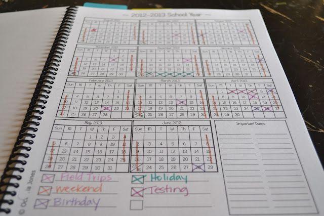 make your own homeschool lesson planner
