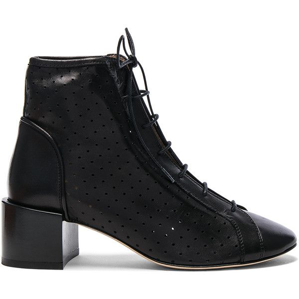 75b405c2da375 Acne Studios Leather Mable Booties ($650) ❤ liked on Polyvore featuring  shoes, boots, ankle booties, booties, leather booties, leather sole boots,  ...