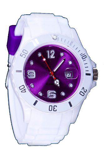Silikon Uhr XXL Weiss / Lila Trend Watch Style Sport Herrenuhr Damenuhr HOT - http://herrentaschenkaufen.de/sz-design/silikon-uhr-xxl-weiss-lila-trend-watch-style-sport