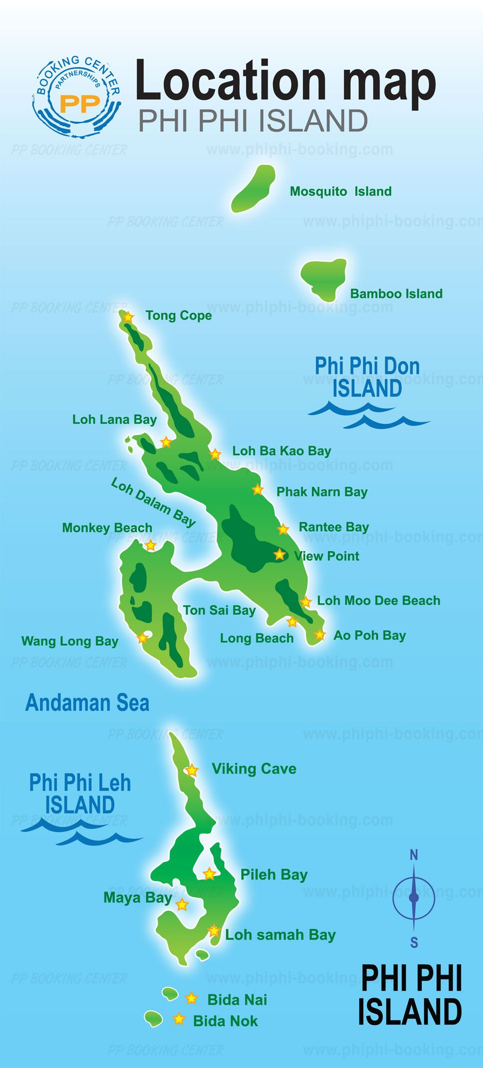Krabi maps is a useful tool to discover the main travel destinations