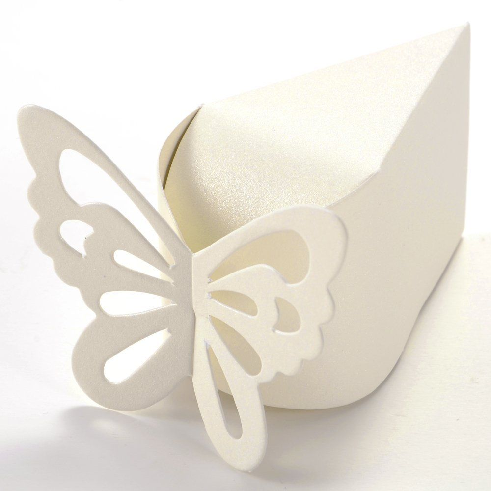 Hot 50 Pcs butterfly paper candy chocolate gift box for wedding ...