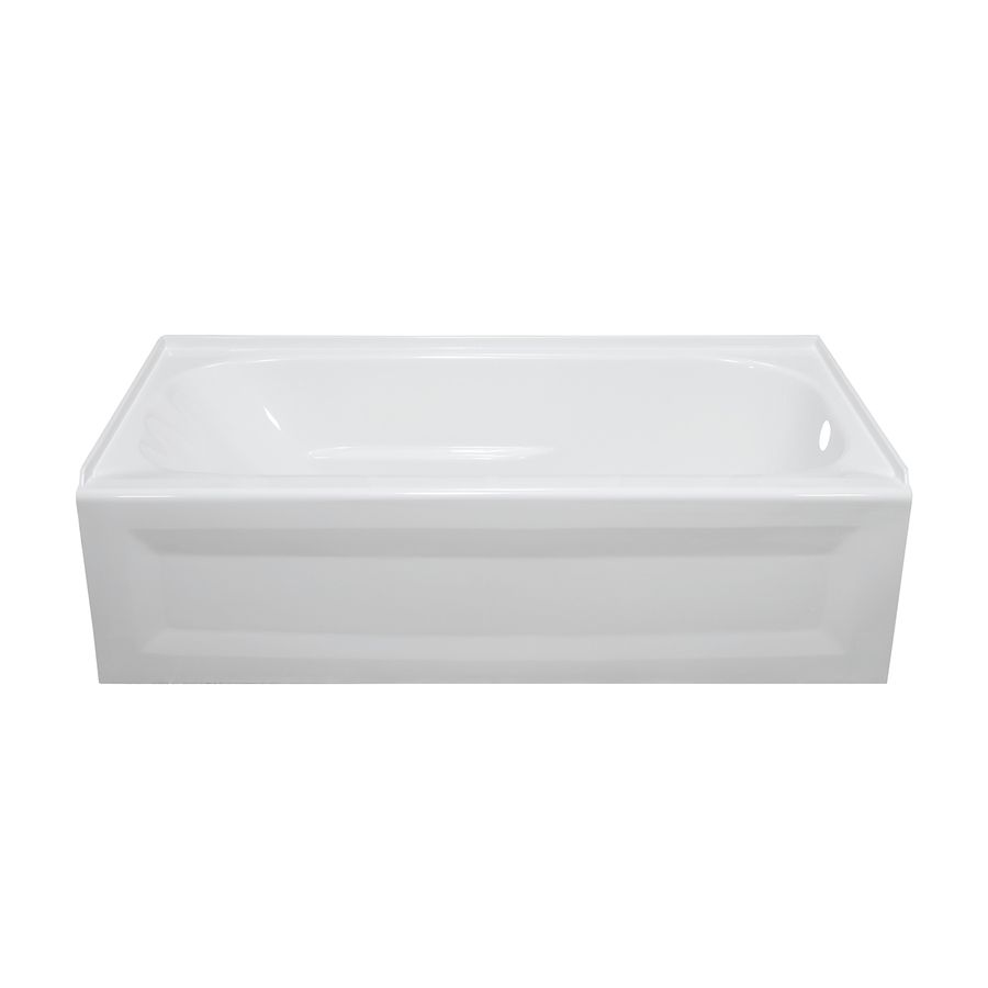 Style Selections White Acrylic Oval In Rectangle Skirted Bathtub With Right Hand Drain Common 30 In X 54 In Actual Soaking Bathtubs 54 Inch Bathtub Bathtub
