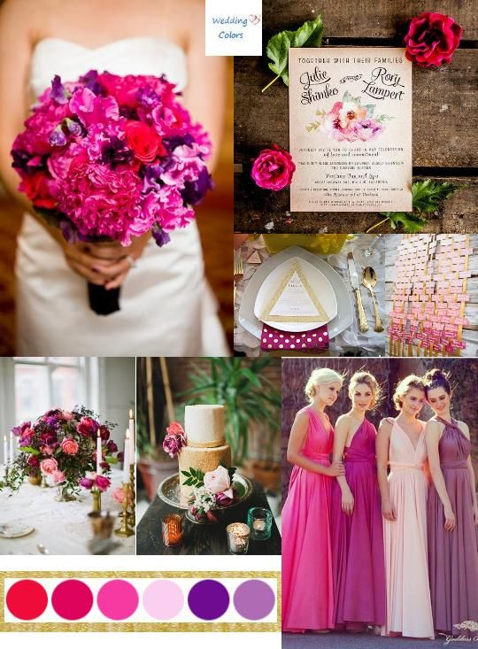 Color Inspiration: Shades of Pink & Purple | Summer wedding colors ...