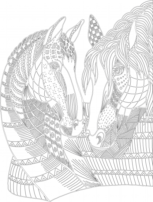 Advanced Animal Coloring Pages | Animal, Horse and Adult coloring