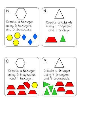 First Grade Shape Task Cards Common Core Composite Shapes ...