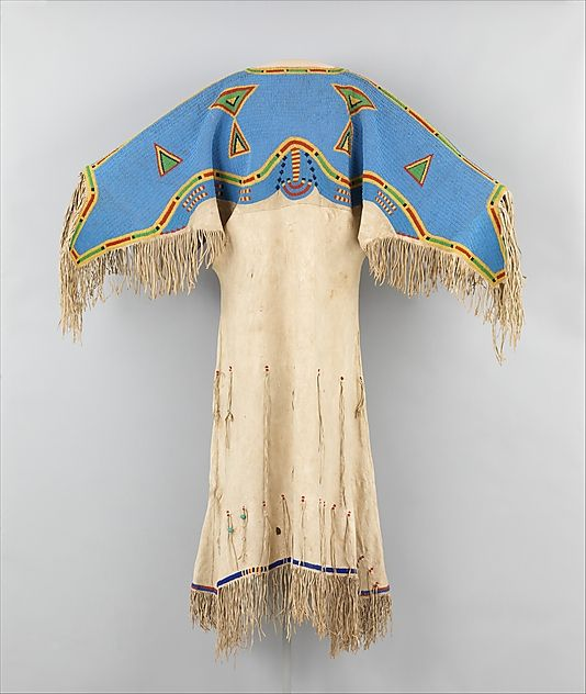 ca. 1880 United States, Sioux (Teton) Native tanned leather & glass beads. From the Met collection. Beautiful.