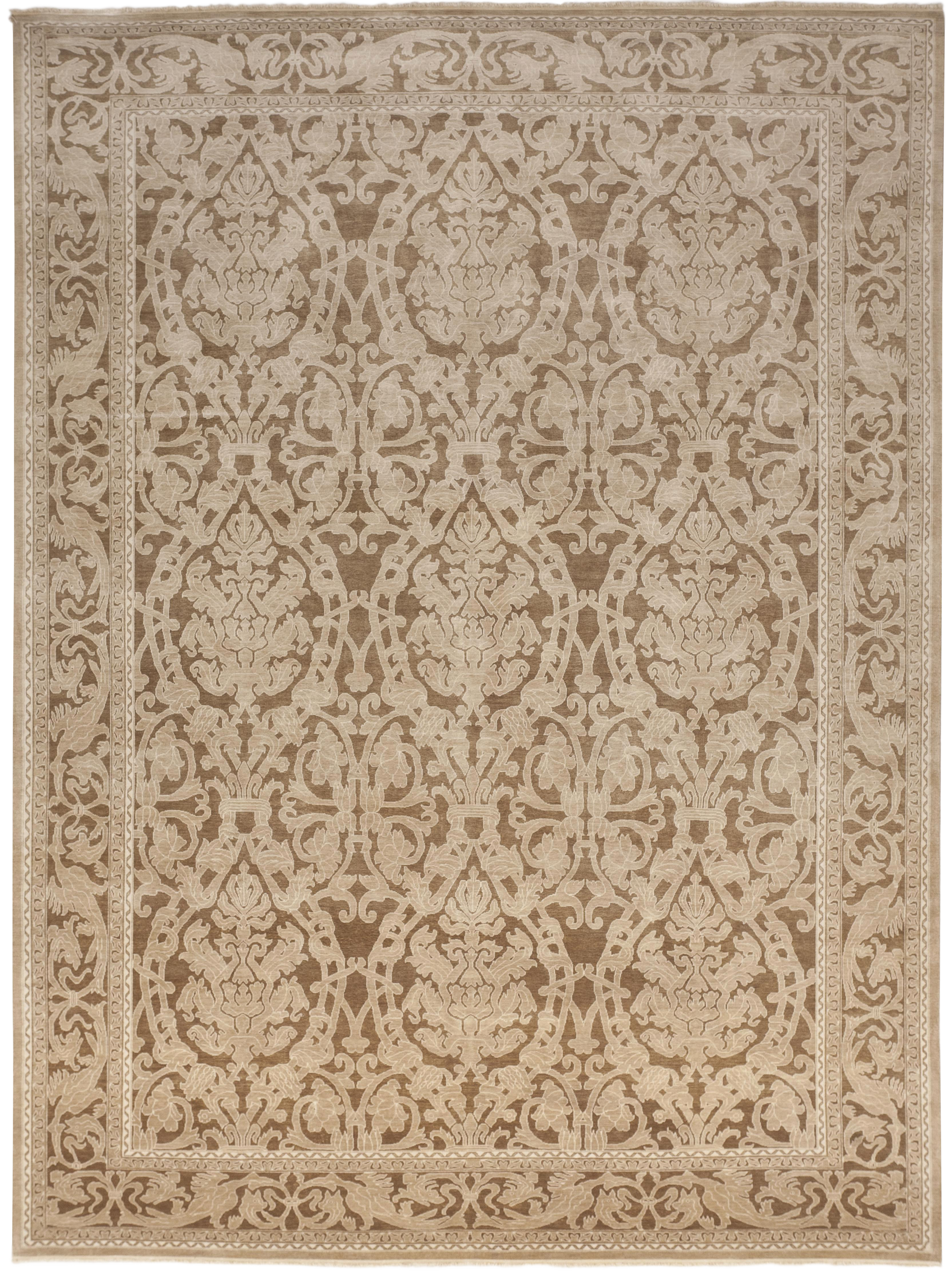 Indian Hand Knotted Rug 8 10 X 12