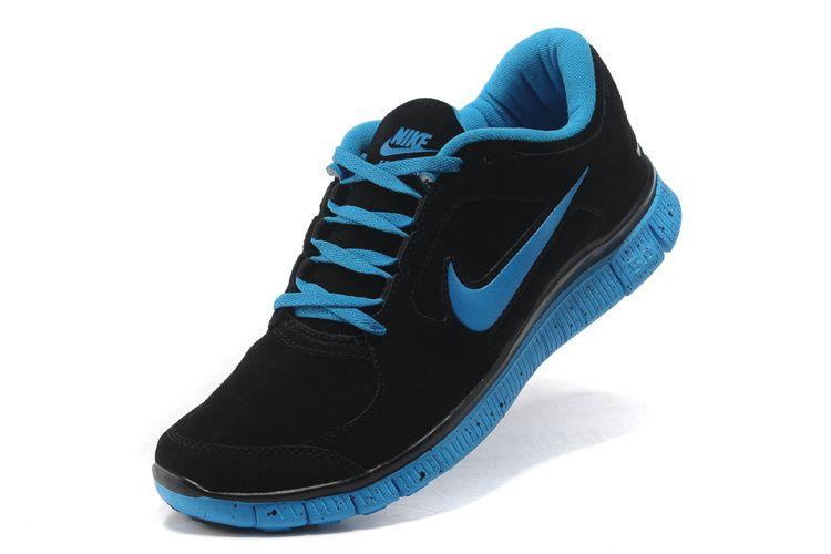 nike free run black and blue