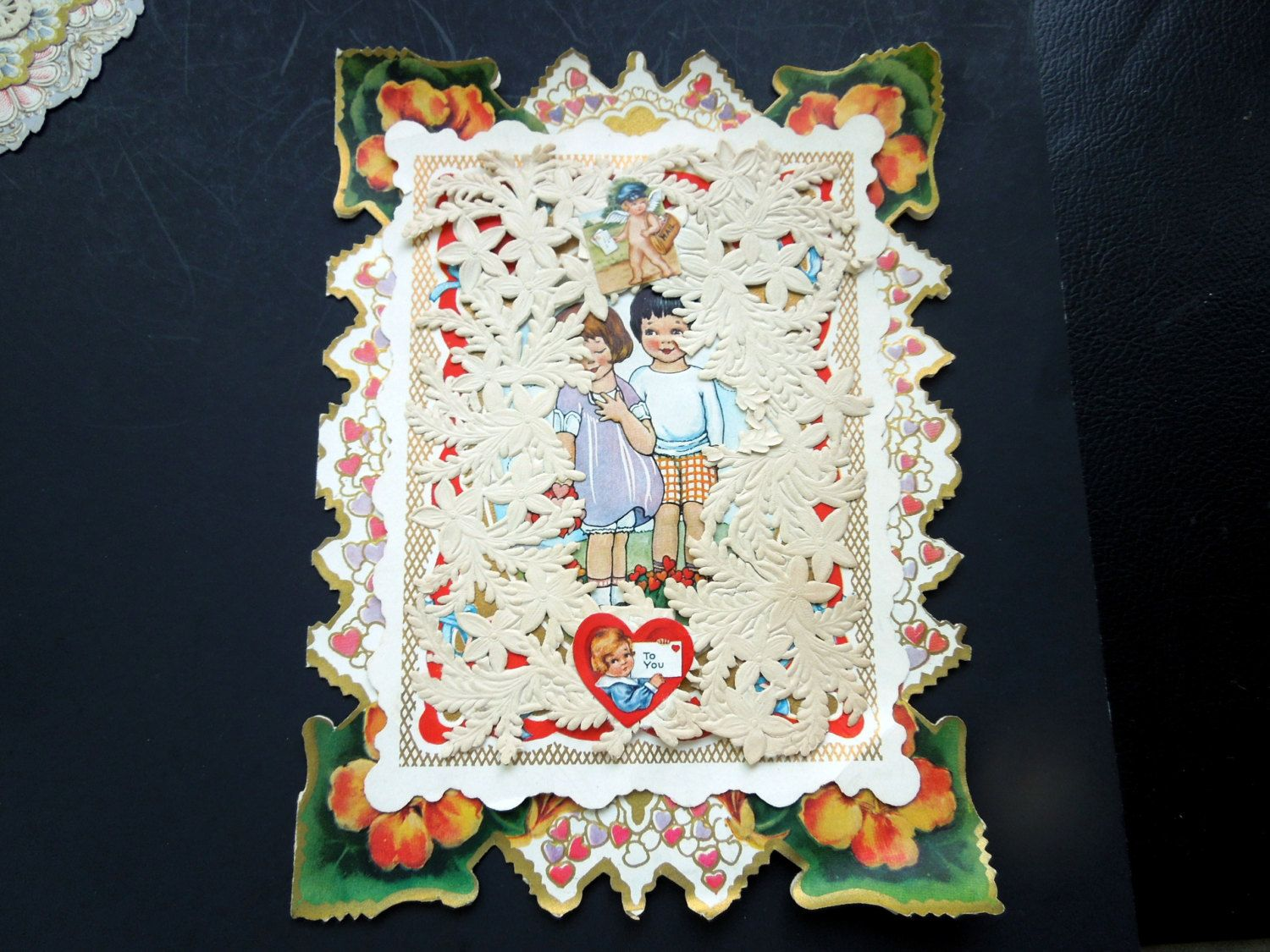 Victorian Edwardian Valentine Card Pop Up Die Cut 3D Embossed Lace Ephemera Boy Girl Wedding Anniversary Birthday Collector Gift by Passion4Europe on Etsy