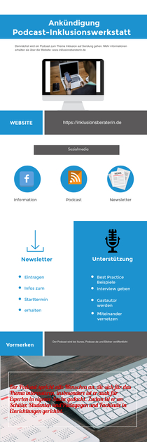 Podcast Inklusionswerkstatt  | Piktochart Infographic Editor