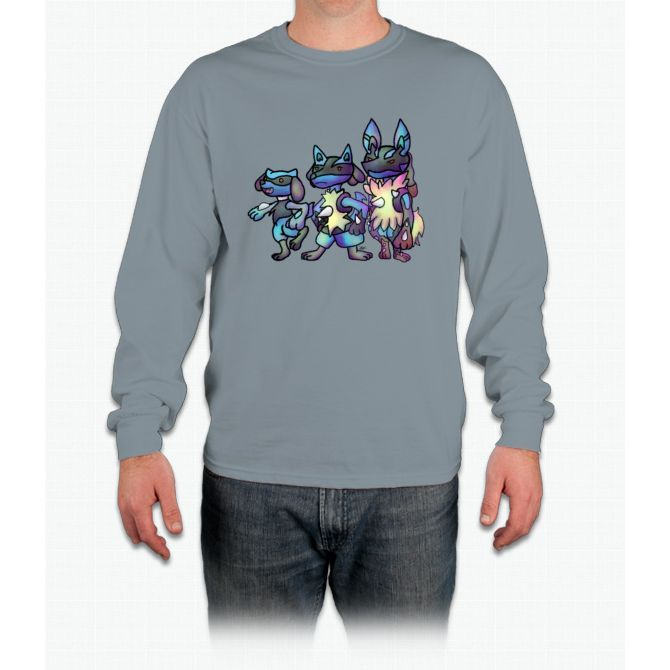 Lucario Evolution Pikachu Long Sleeve T-Shirt