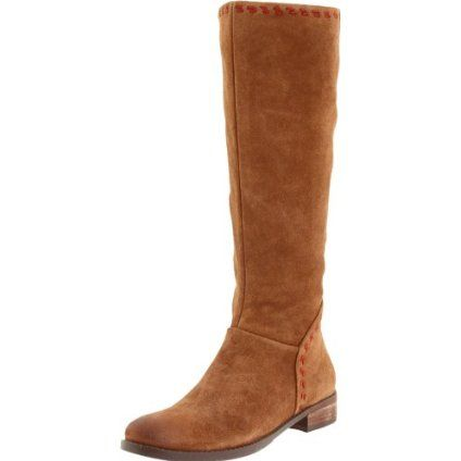 These boots were nice. The suede was supple and soft. However, they flopped on my heels.
