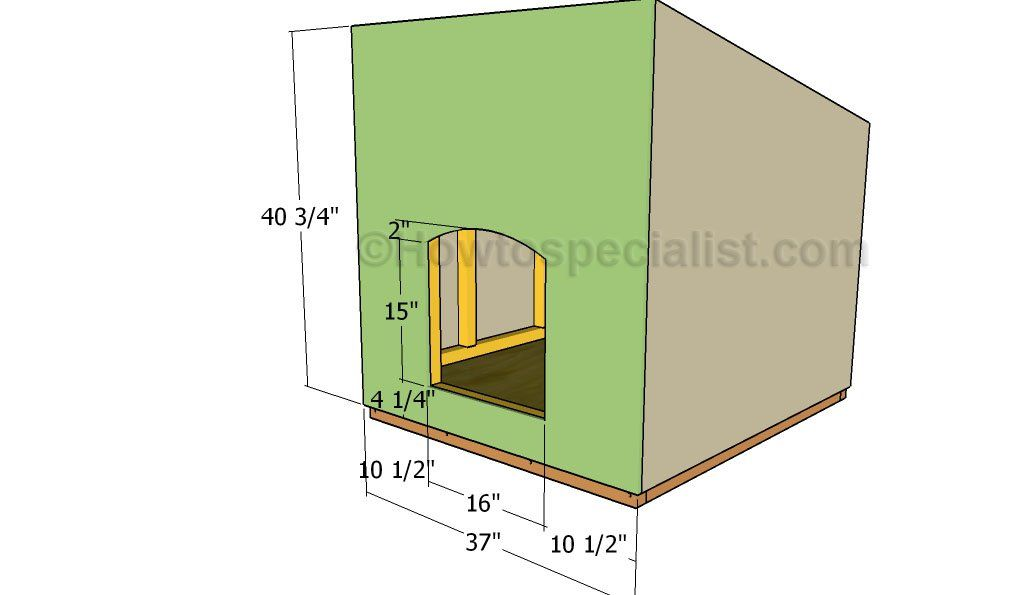 Large Dog House Plans Howtospecialist How To Build Step By Step Diy Plans In 2020 Large Dog House Plans Dog House Plans Large Dog House