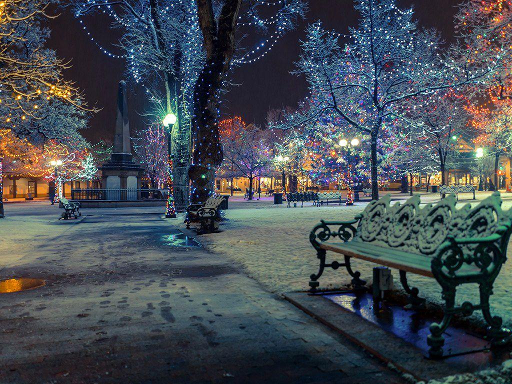 For the winter solstice Santa Fe's Farolito Walk Winter
