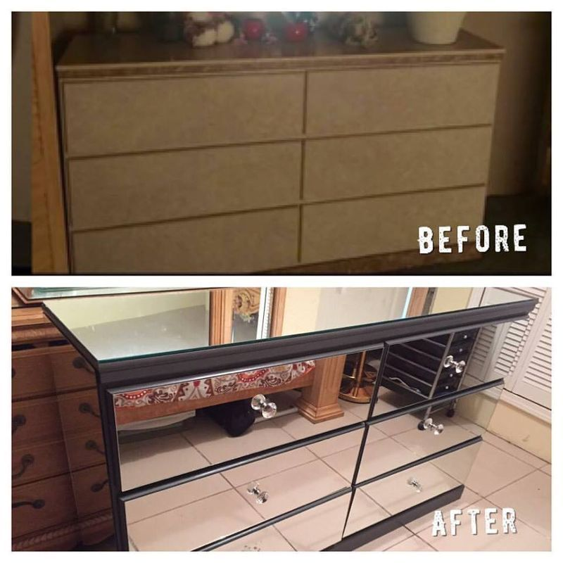 Diy Mirrored Dresser Painted Furniture