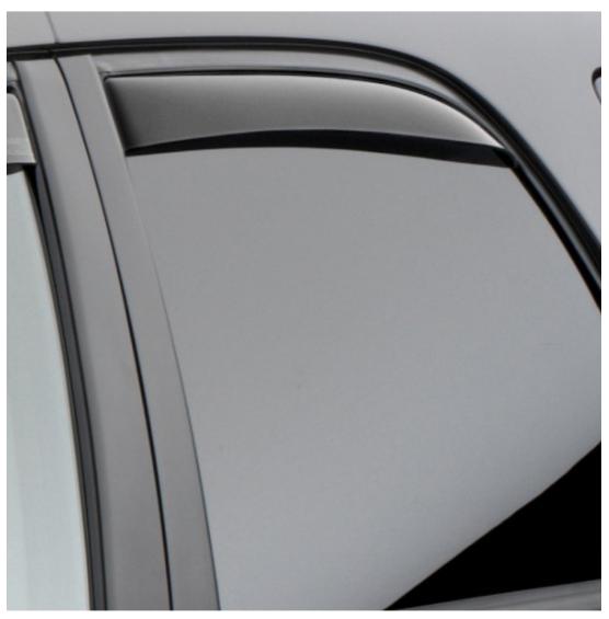 WeatherTech Dark Smoke Window Deflectors 20012005