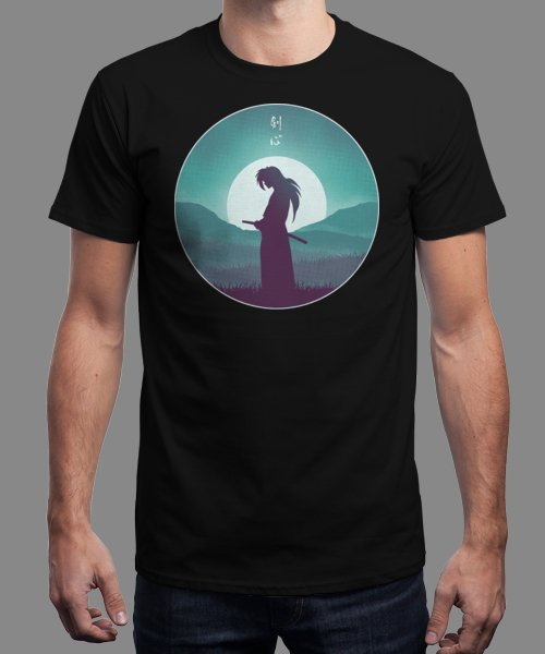 """""""Rurouni Samurai"""" is today's £9/€11/$12 tee for 24 hours only on Pin this for… 