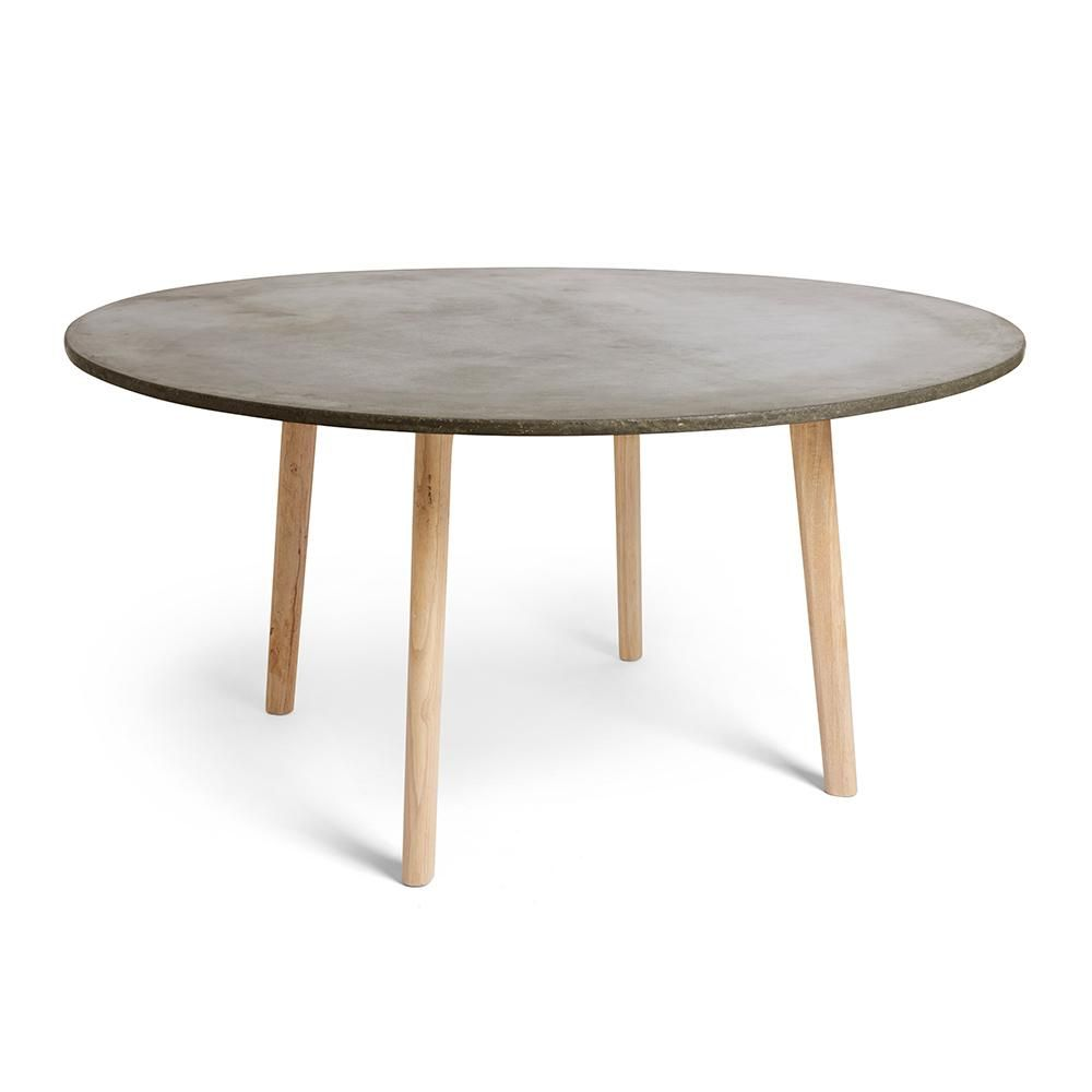 Scandi Round Concrete Dining Table Round Concrete Dining Table