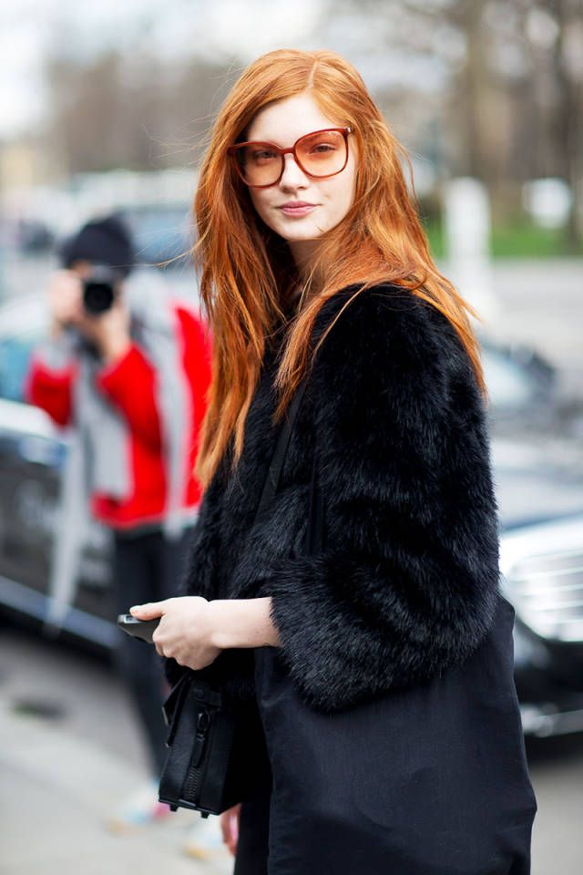 Ma Cherie Street Style From Paris Fall 2014 Paris Fashion Week Street Style Stunning Redhead Style