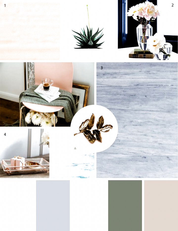 Elegant blush mood board palette #modern farmhouse decor