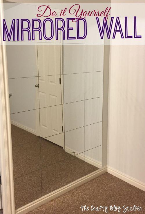 Diy Mirrored Wall Tutorial By The Crafty Blog Stalker Cheap Home Decor Diy Mirror Home Diy
