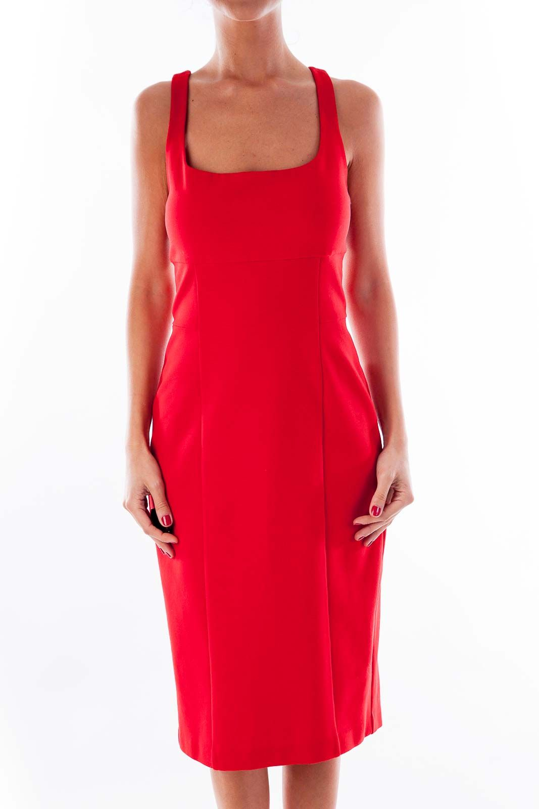 1b1c835e9e7 Classy date night dresses red cocktail dress by Diane Von Furstenberg   silkroll