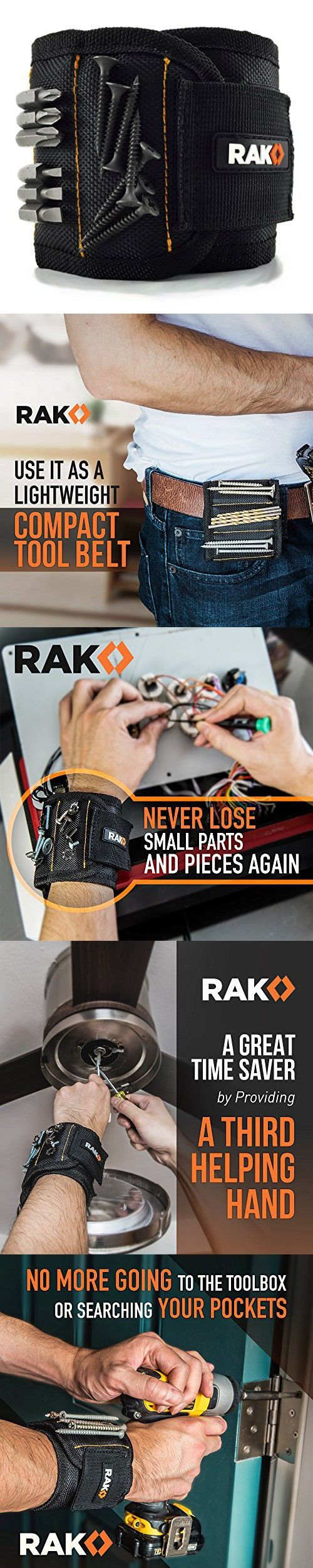 Rak Magnetic Wristband V2 With Strong Magnets For Holding S Nails Drill Bits Best Unique Tool Gift Diy Handyman Father Dad Husband