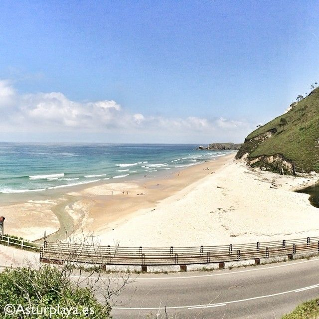 San Antolín beach in Llanes, a paradise for tourists, locals, surfers, EVERYONE! This is Asturias, Spain.