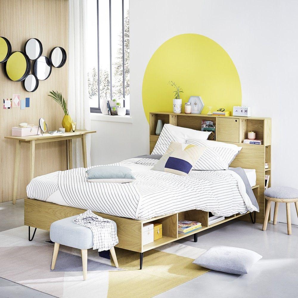Letto con rete a doghe e portatutto 140x190 maisons du monde home design arredamento - Doghe del letto ...