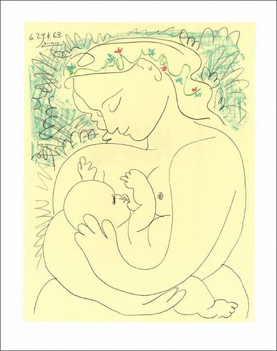 La Maternité Pablo Picasso, 29 avril 1963 Lithographie, 65 x 50 cm ...