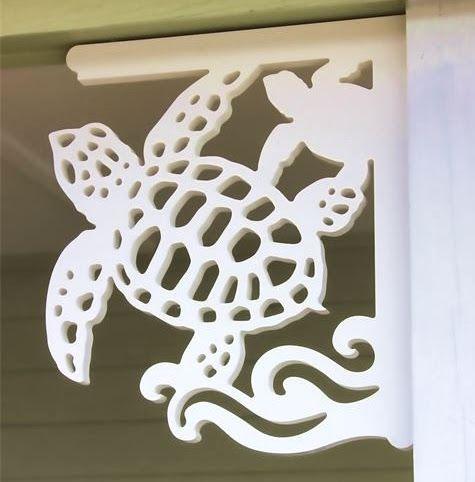 Photo of Decorative Corner Brackets with a Coastal Sea Life & Shore Bird Theme