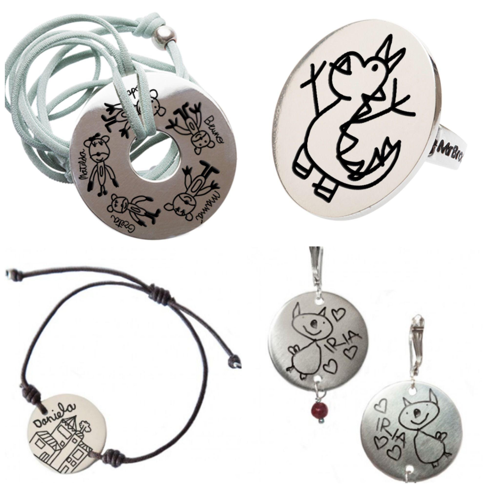 44ad618bf643 Broc Joyas personalizadas con dibujos en plata.  joyas  collar  pulsera   anillo  pendientes  regalosconsentimiento  regalosparaMamá  DíadelaMadre