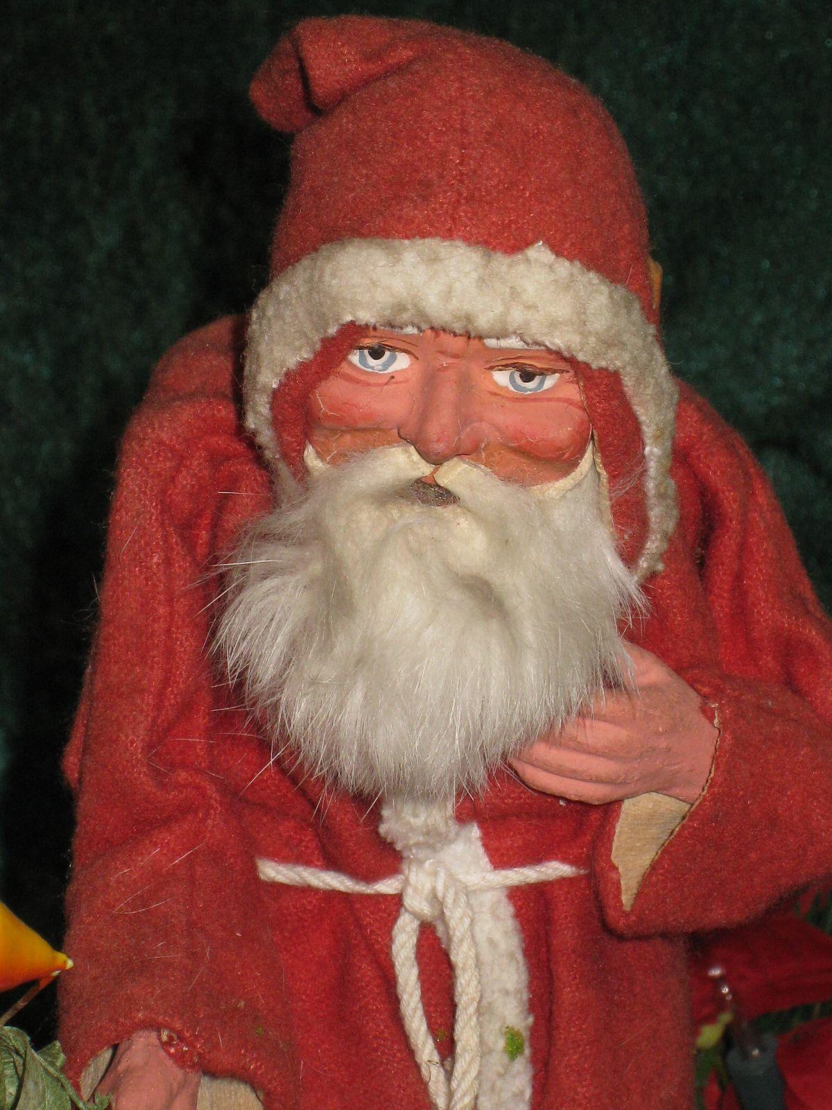 10 tall antique german santa claus with red felt coat c 1910 ebay - Santa Claus Red