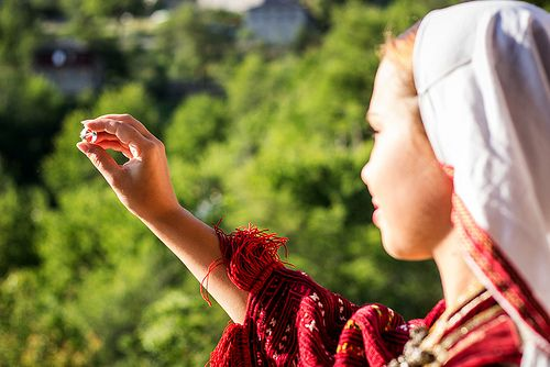 """""""Through this ring I look at you, welcome me to your heart""""  Galiċnik is a small village in the mountains of Macedonia known worldwide for organizing collective weddings each year on St. Peter's day. In its time of glory, there were as many as 30 wed"""