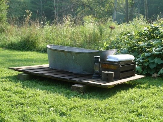 Warm Weather Project: Create An Outdoor Bath