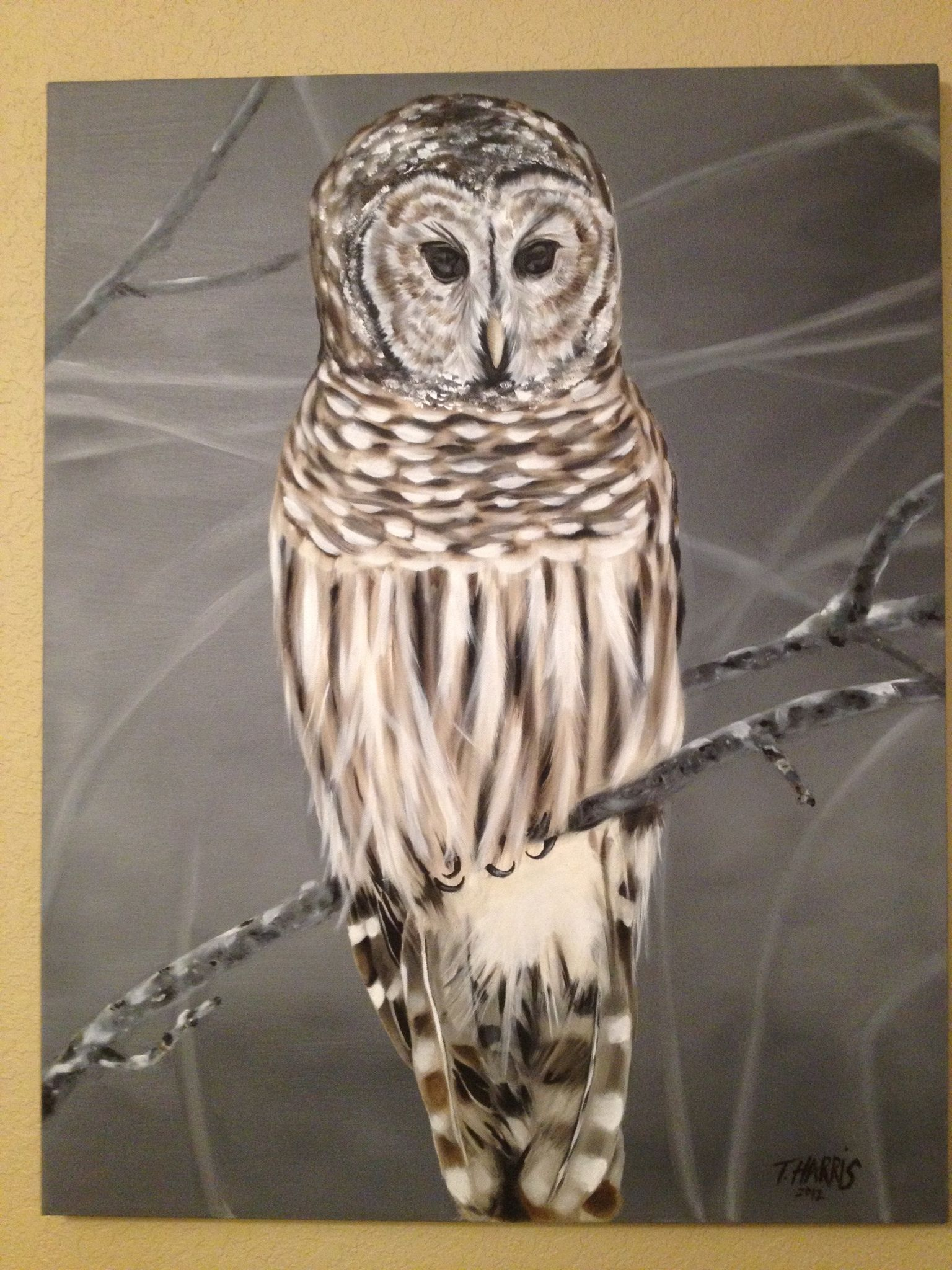 Oil Paintings Owls Ecfddedbefe