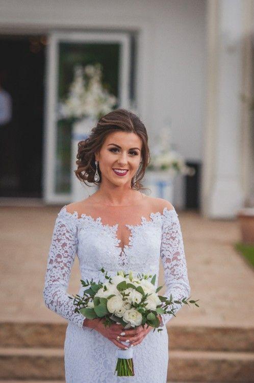 Suknia ślubna Koronkowa Długi Rękaw Używane Suknie Sprzedawane