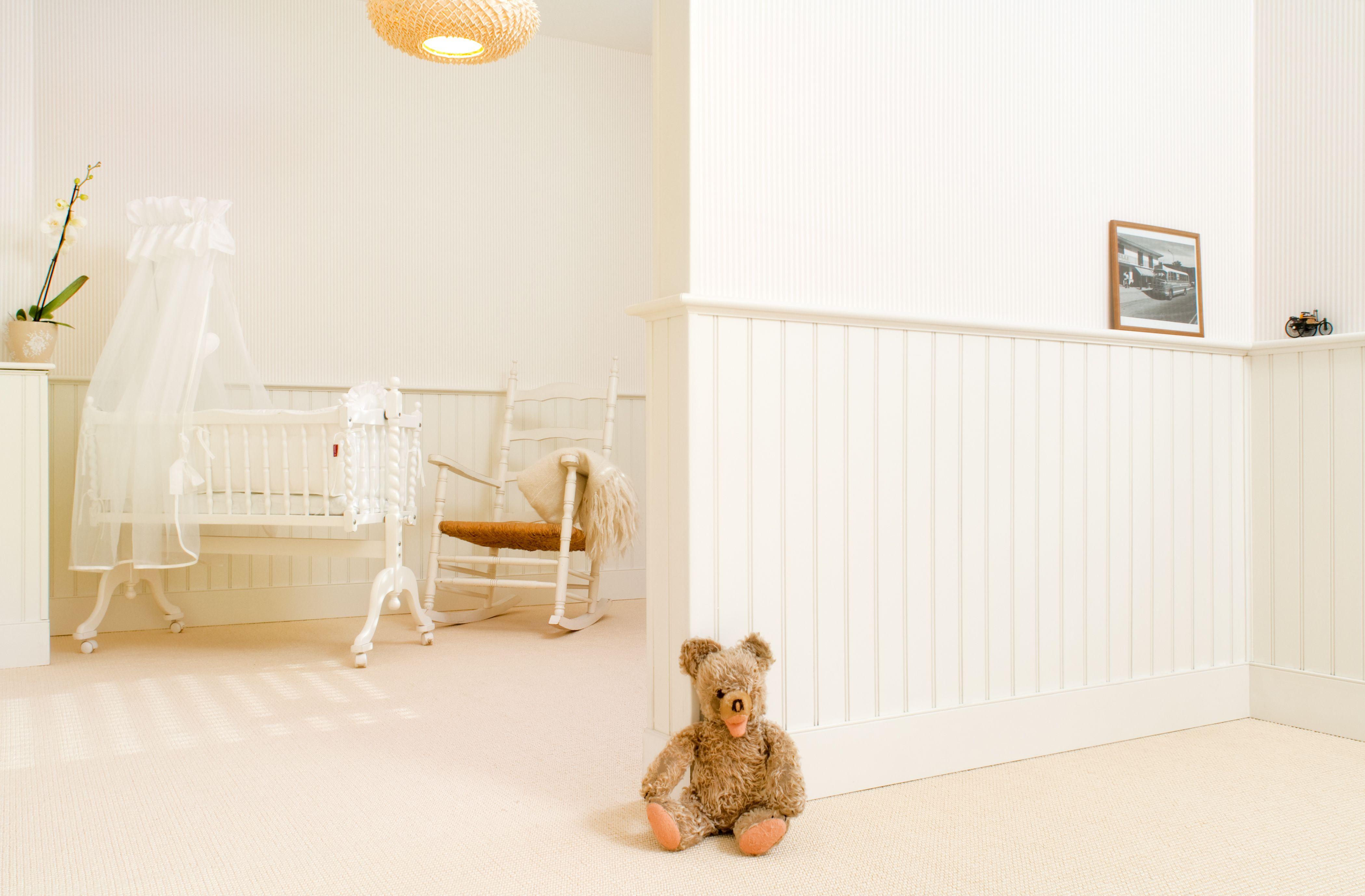 Kinderzimmer, wainscoting, beadboard, Holzpaneele