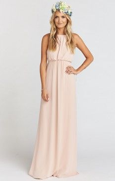Amanda Maxi Dress ~ Dusty Blush Crisp
