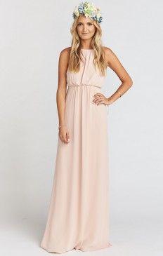 Amanda Maxi Dress ~ Dusty Blush Crisp
