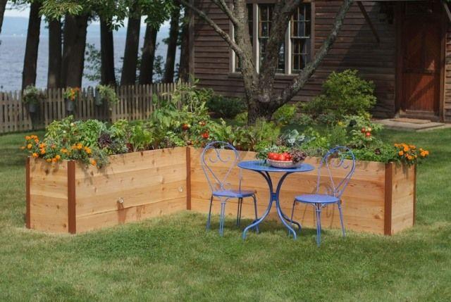 Sehr hochbeete zeder gemüsegarten selber bauen ideen blumen   Garten  NN41