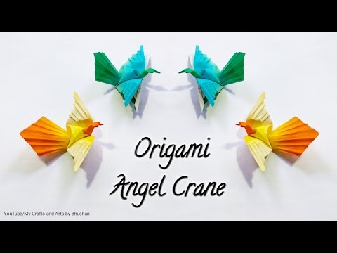 Origami Angel Crane Origami Crane With Four Wings #origamibird