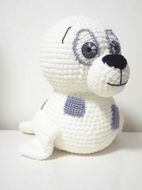 Crochet Pattern Seal Tony Amigurumi PDF Cute White Seal With Patches ...