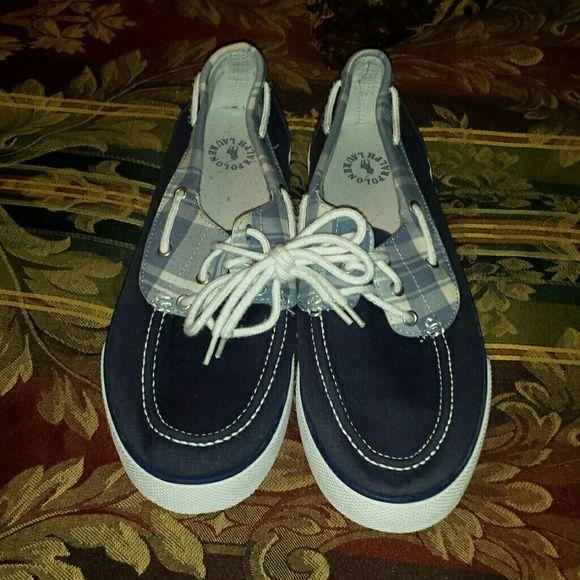 Light Blue Polos Light blue Men's Polo shoes in good condition size 10.5D Ralph Lauren Shoes