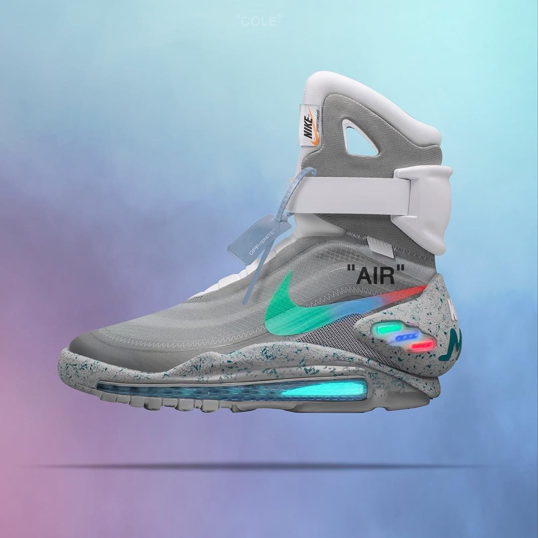 "89a14d8dcc12 Jeff Cole ""AIR MENTA MAG ""  offwhite air max mag concept. ☁ 🏂 Who wants  more customs⁉ ⁉ """