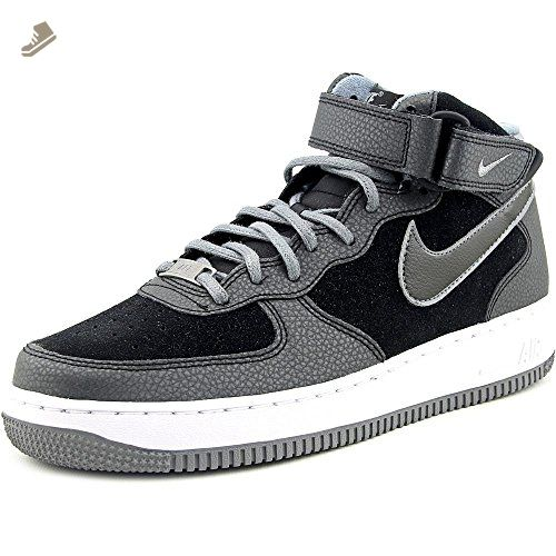 outlet store 9da97 b7bbe Nike Women's Air Force 1 07 Mid Black/Cool Grey High-Top ...