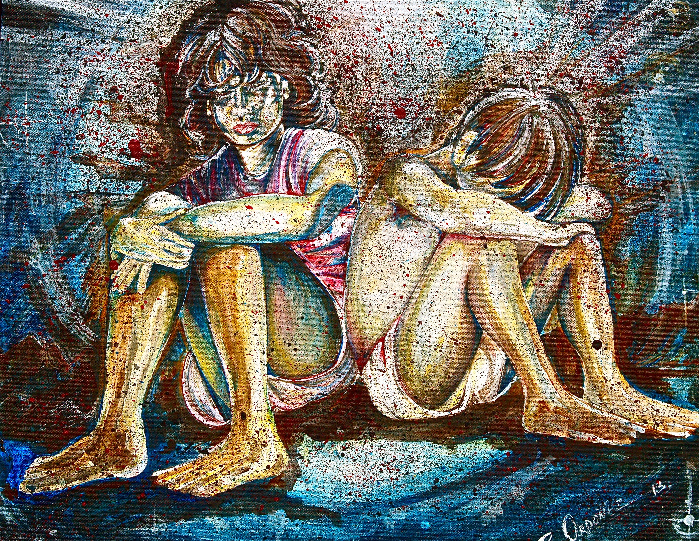 Art By Ramiro Ordonez Acrylic Painting Poverty Ordonez